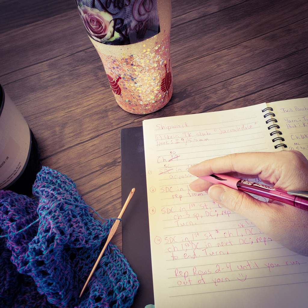 writing and swatching