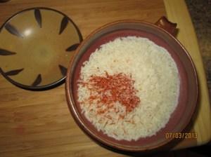 rice safron and salt