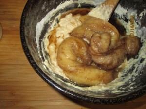Bananas added to dough
