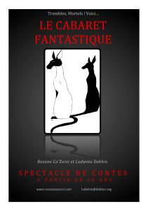Le cabaret fantastique, affiche par Ludwine Deblon