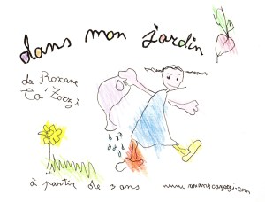 Affiche crée par Ludwine Deblon pour 'Dans mon jardin'