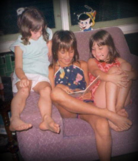 August 1974-Reading with Cousin TaraB