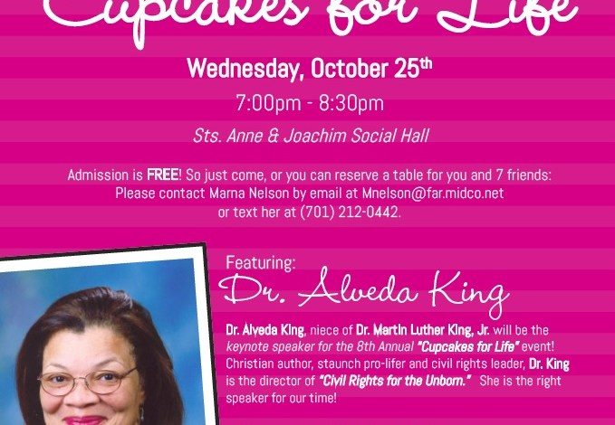 Cupcakes for Life 2017, with Dr. Alveda King