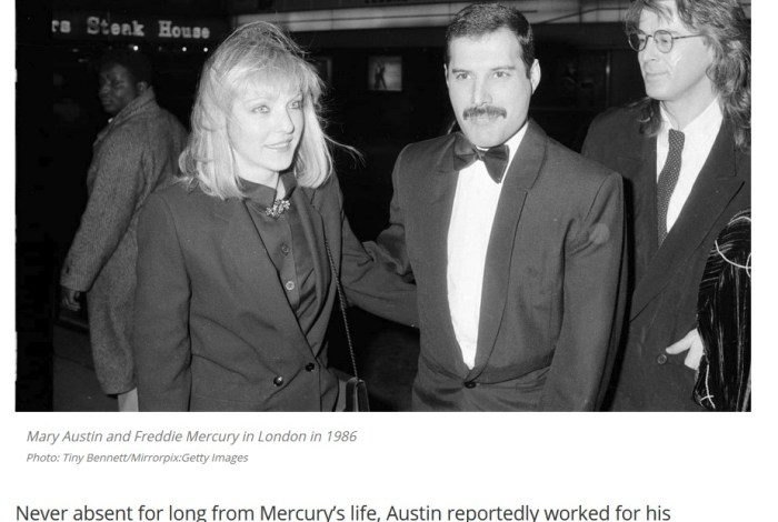 'Love of (his) life,' Mary Austin, illumines Freddie Mercury tragedy
