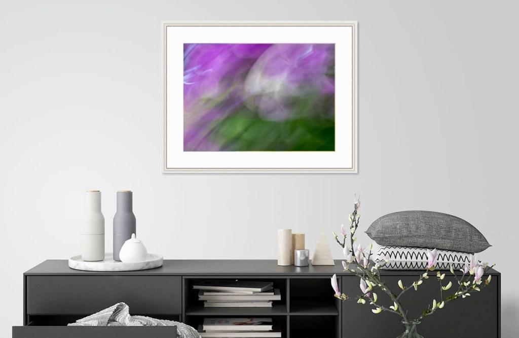 Violet Birth, framed, by Roxanne Darling