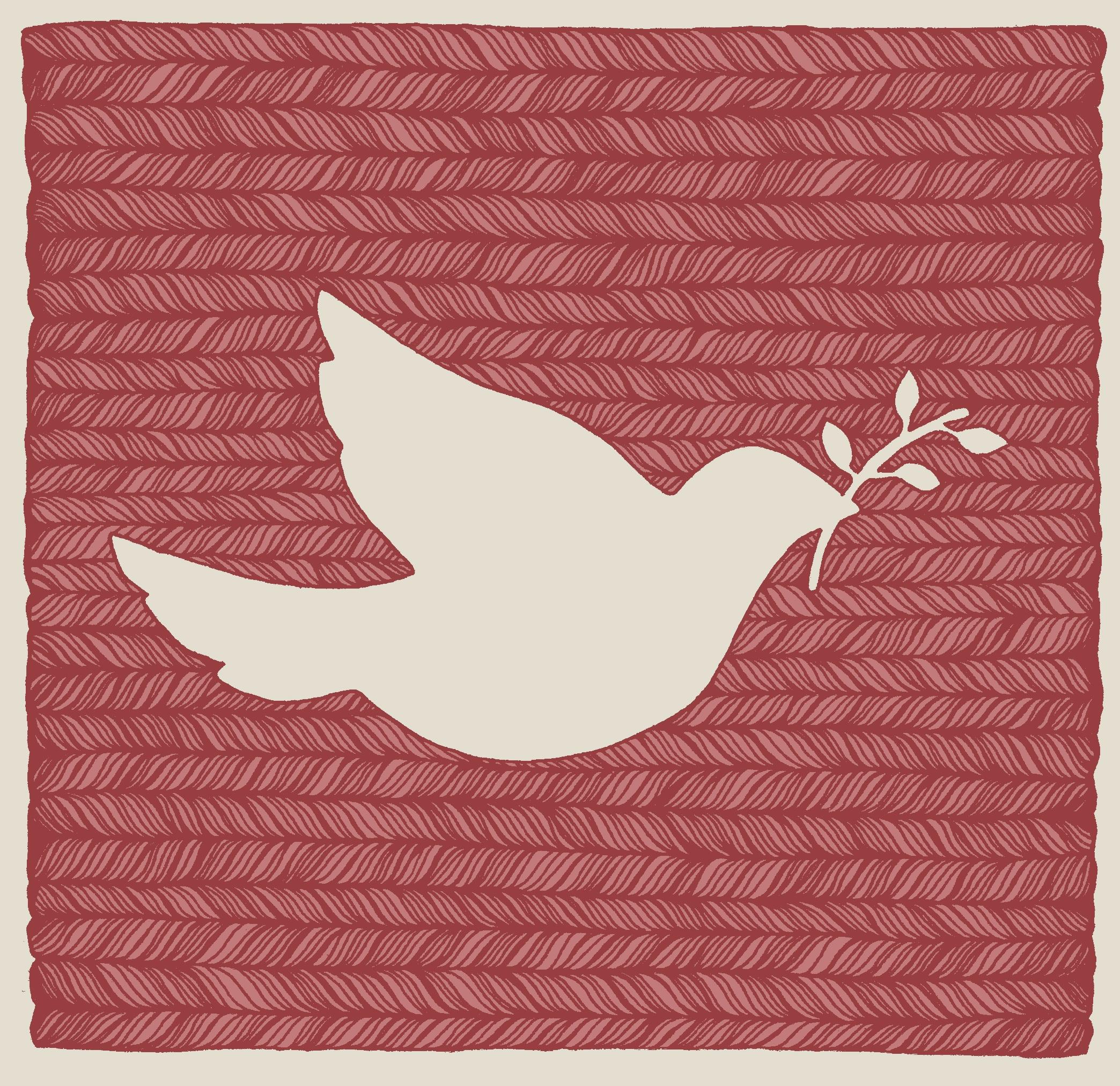 Christmas Dove Roxanne Jelley Illustration