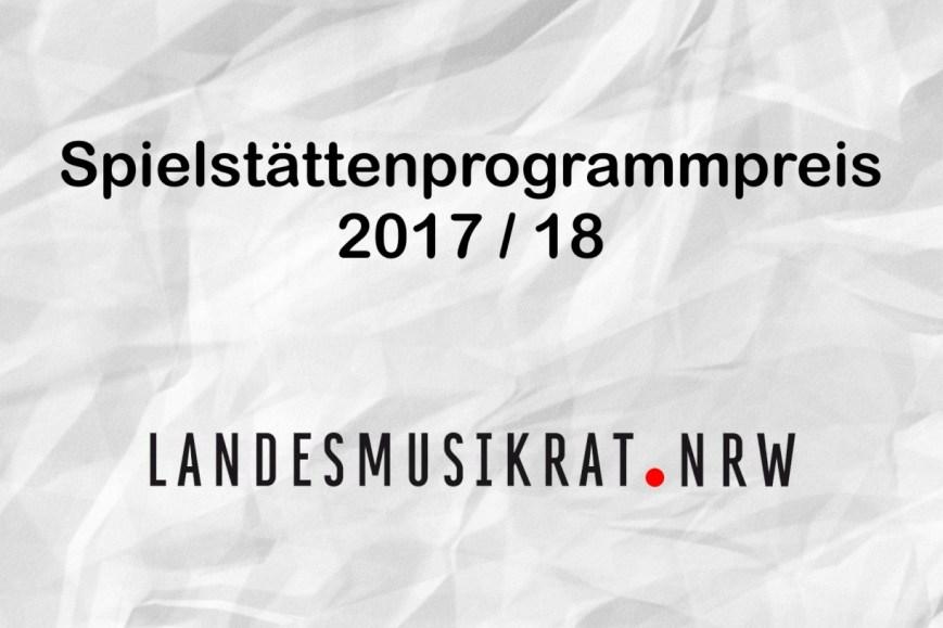 Spielstättenprogrammpreis 2017/18 1