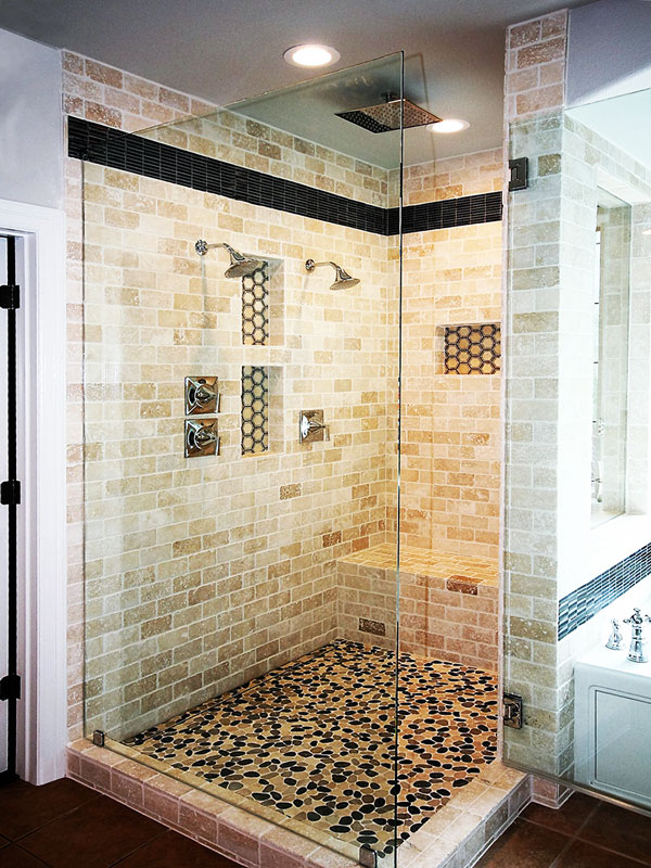 WalkIn Shower for Master Bath  Roxton Custom Home Remodeling