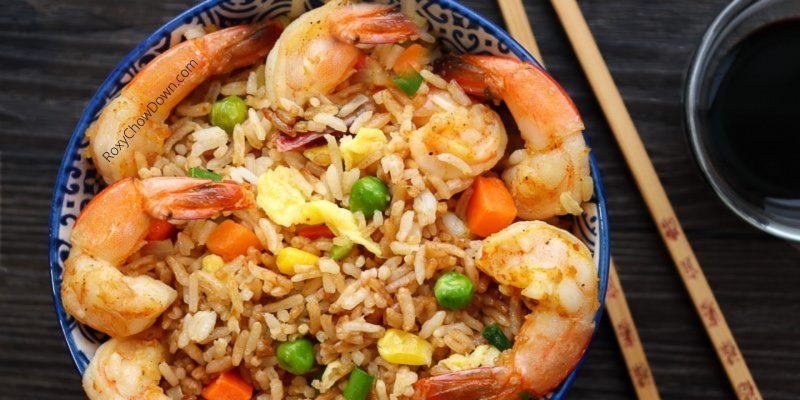 Delicious Chinese-style Shrimp Fried Rice Recipe - by RoxyChowDown.com