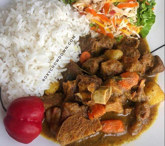 Jamaican Curry Goat Recipe - by RoxyChowDown.com