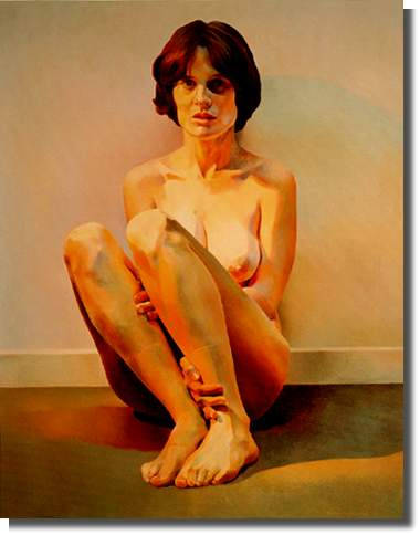 Donna by Mary Pratt 1986 Oil on Panel 89.9 x 70.5 cm