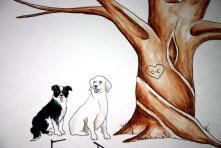 http://weddbook.com/media/2564371/wedding-tree-guest-book-add-on-original-thumb-print-water-color-illustration-add-your-pet-cat-dog