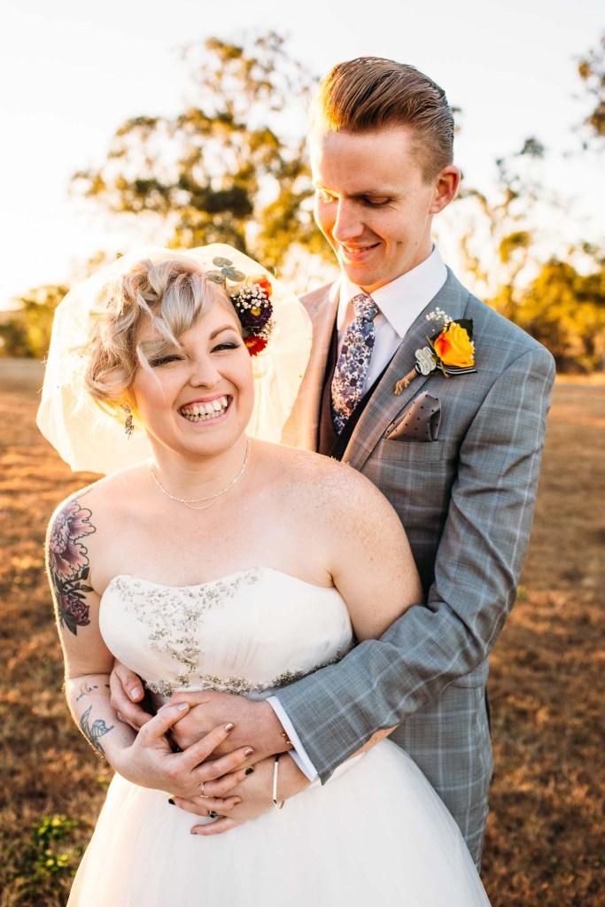 couple wedding at Dusty Hills Wine