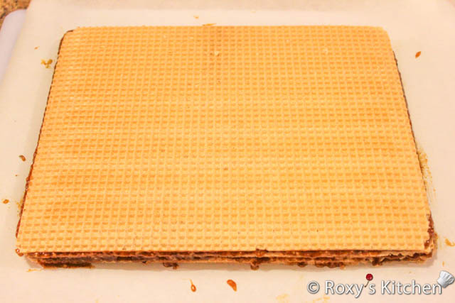 Wafer Sheets Filled with Caramelized Sugar and Walnut