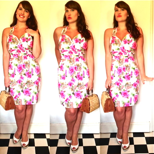 The Collectif Sarong Dress Roxy Vintage Style