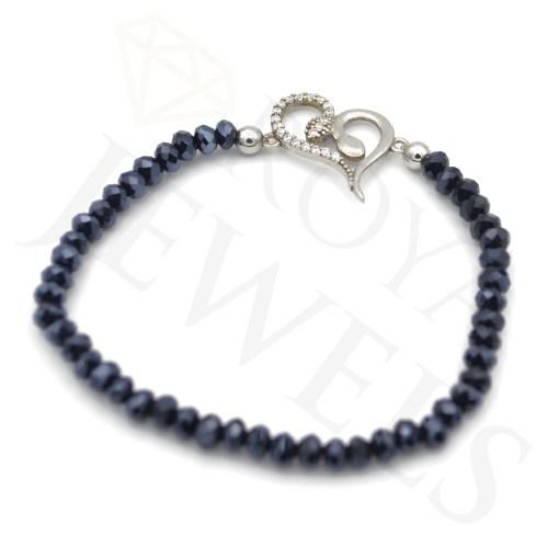 Evil Eye Heart Bracelet Cubic Zirconia 925 Sterling Silver