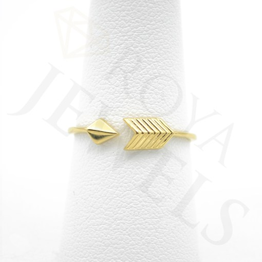 Adjustable Arrow Ring Yellow