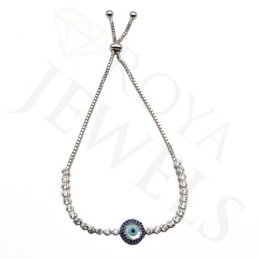 Evil Eye Mother of Pearl Tennis Bracelet Evil Eye Silver Bracelet Roya Jewels