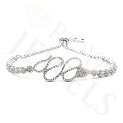 Swirl Cluster Bracelet Silver Bracelet Roya Jewels