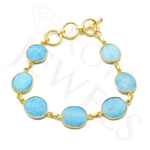 Turquoise Howlite Bracelet Bracelet Roya Jewels
