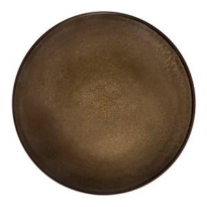 Assiette plate Feeling Bronze - Médard de Noblat