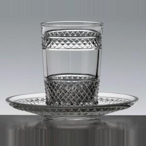 Verre à thé et sa soucoupe Séville - Cristal de Paris