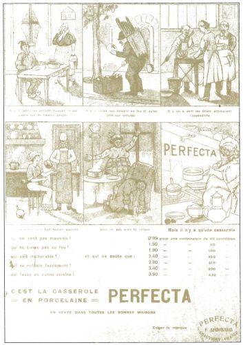 """Il n'y a qu'une casserole, c'est la casserole en porcelaine """"Perfecta"""" !"""