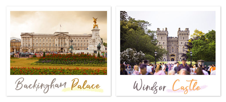 Windsor Castle, Buckingham Palace, ウィンザー城, バッキンガム宮殿