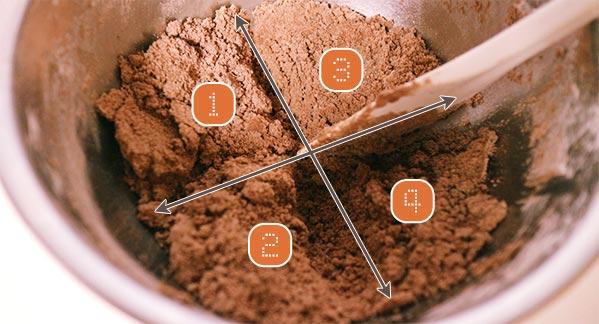 チョコレートクッキー, 薄力粉, ココア, 生地