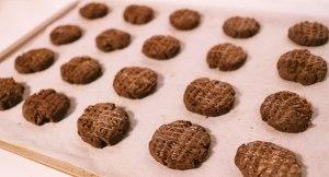 チョコレートクッキー, 生地, 成形,, 天板