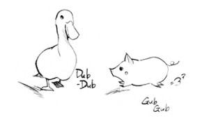 ドリトル先生, アフリカゆき, Doctor Dolittle, Dub-Dub, Gub-Gub, アヒル, 子ブタ, 動物, animals, duck, pig