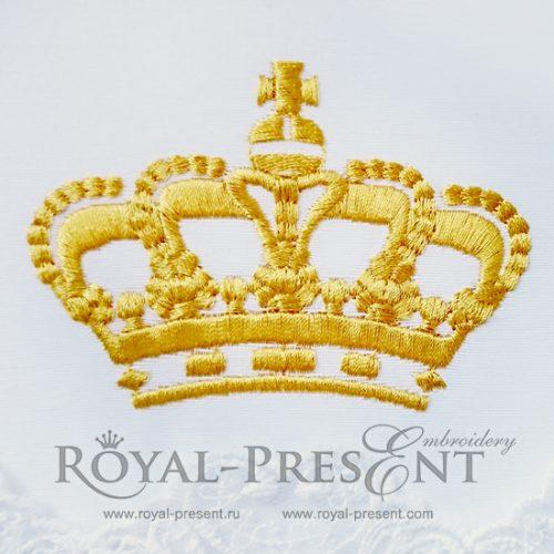 Дизайн машинной вышивки бесплатно Корона