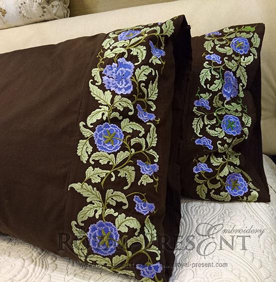 Дизайн машинной вышивки Цветочный бордюр