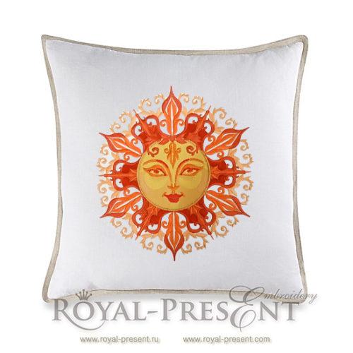 Дизайн машинной вышивки Красно Солнышко