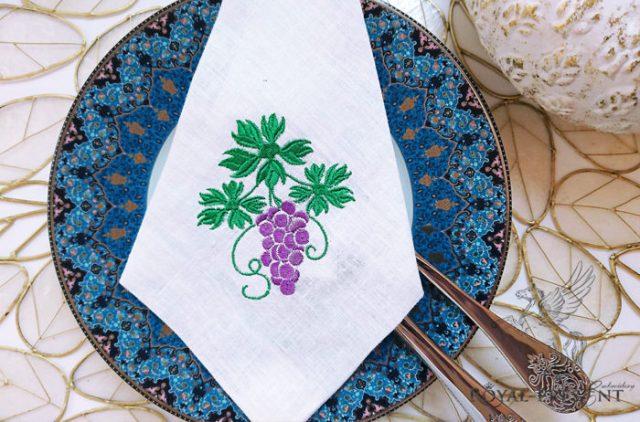 Дизайн машинной вышивки Веточка винограда