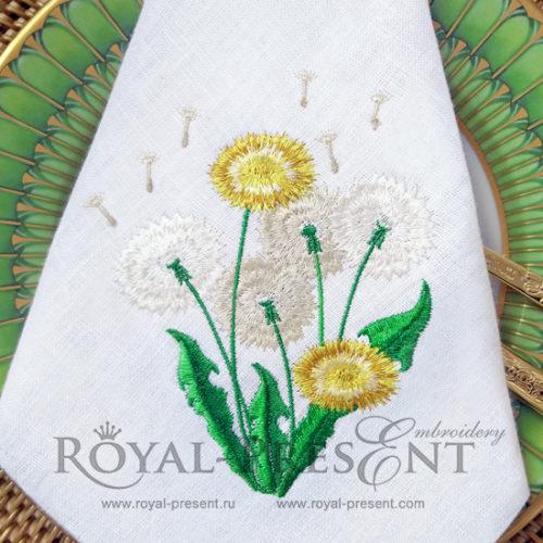 Дизайн машинной вышивки Букет из одуванчиков