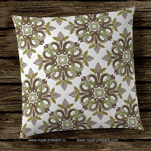 Дизайн машинной вышивки Средневековый Квилт блок