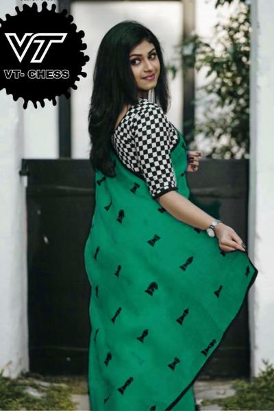 impeccable-green-color-angel-look-with-chanderi-embroidery-work-saree