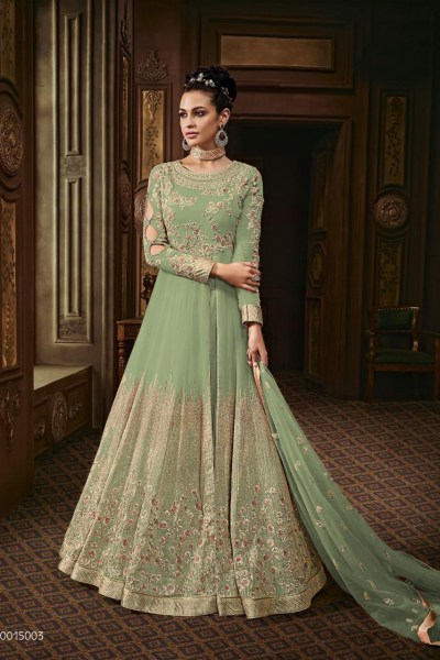 harmonious-olive-green-color-heavy-georgette-with-stone-work-anarkali-suit