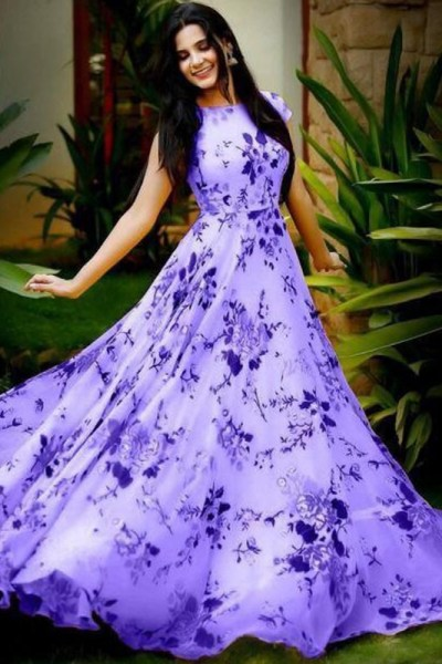 stylish-floral-printed-purple-color-american-creep-silk-gown