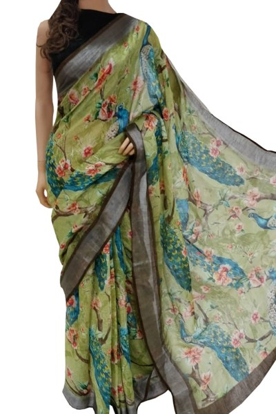 sparkling-multi-color-linen-designer-digital-print-saree
