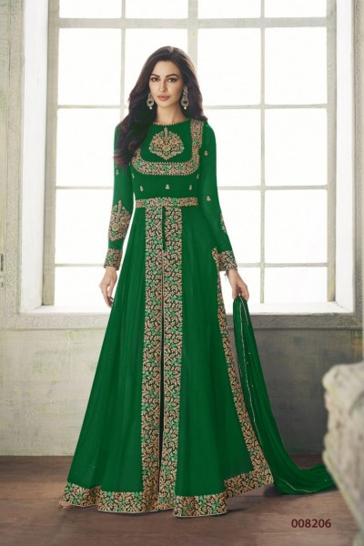 ceremonial-green-color-heavy-georgette-embroidery-work-long-length-suit