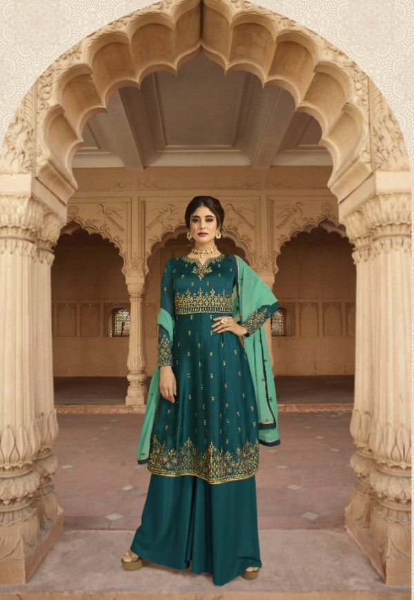 divine-peacock-blue-color-satin-georgette-with-embroidery-work-salwar-suit