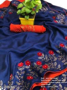 effective-blue-color-zoya-silk-with-swaroski-diamond-work-border-saree