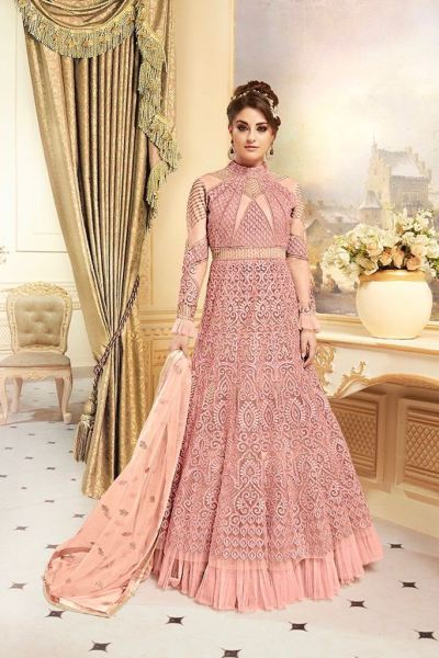 gold-dark-pink-color-net-with-jari-embroidery-exclusive-collection-of-wedding-suit