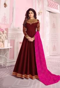 harmonious-maroon-color-pure-dola-silk-exclusive-festival-wear-anarkali-suit