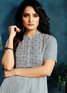 grey-color-two-tone-high-quality-rayon-with-foil-print-kurti-with-jacket (2)