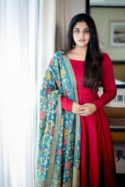 redblue-color-high-quality-rayon-kurti-with-japan-crap-designer-print-dupatta