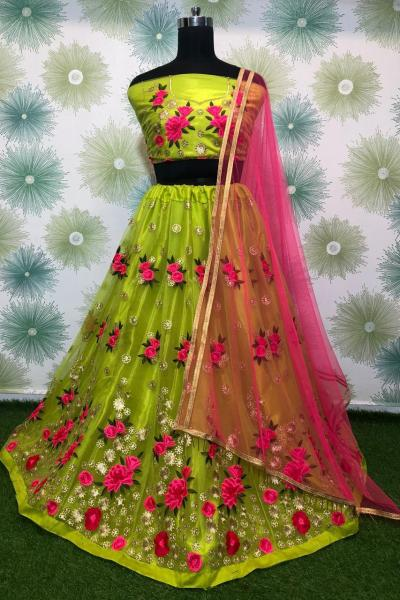 vibrant-light-green-color-heavy-net-exclusive-wedding-wear-lehenga-choli
