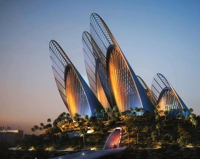 Image of Zayed National Museum in Abu Dhabi UAE. a memorial to the late Zayed bin Sultan Al Nahyan